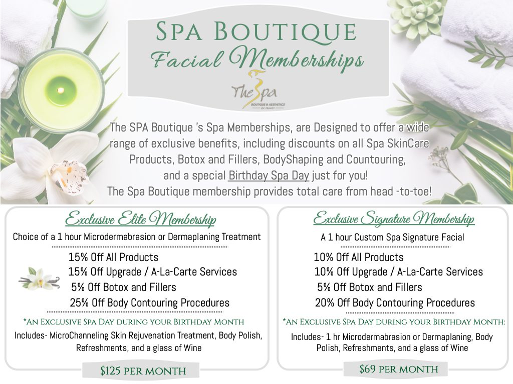 Spa Boutique Membership Flyer