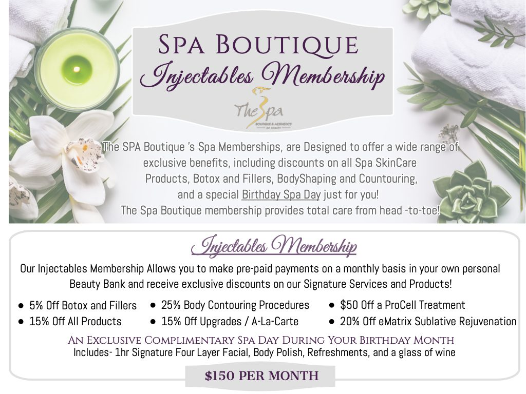 , Spa Boutique Memberships