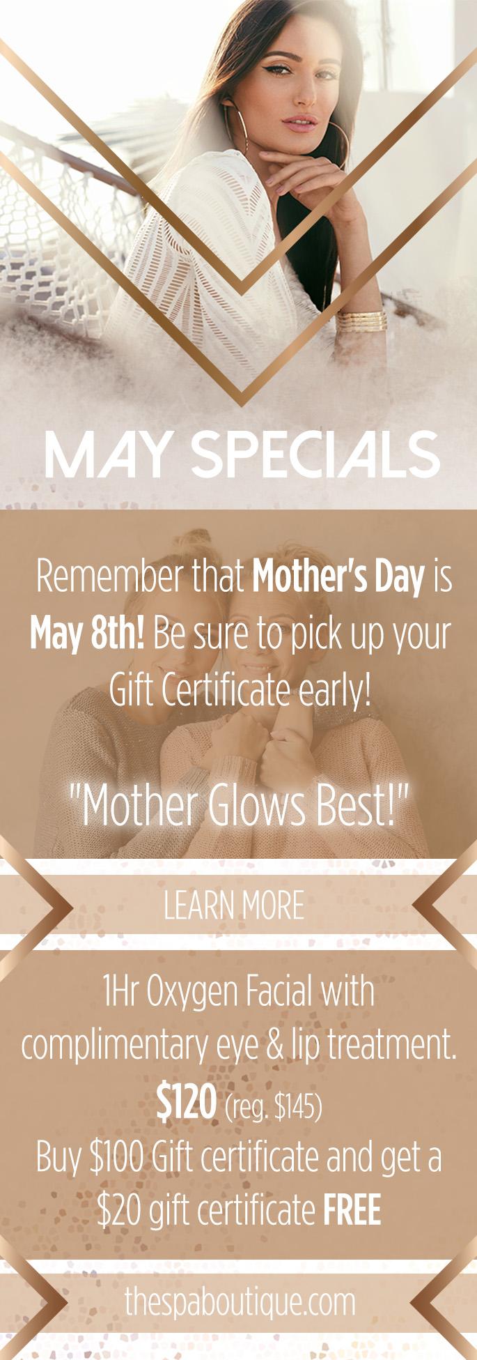 May Specials!!